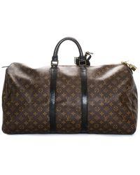 Louis Vuitton Damier Ebene Canvas Keepall 55 - Brown