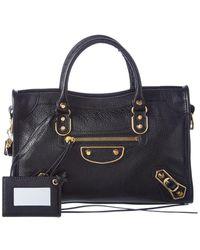 Balenciaga Classic Metallic Edge City Small Leather Shoulder Bag - Multicolor