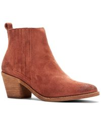 Frye Alton Suede Chelsea Boot - Brown