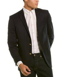 Brooks Brothers Explorer Regent Fit Wool-blend Sportcoat - Black