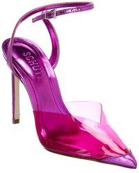 Schutz Monaly Leather Pump - Pink