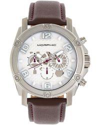 Morphic M73 Series Chronograph Quartz White Dial Mens Watch - Metallic