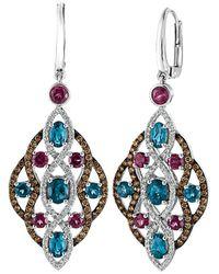 Le Vian ? 14k 5.11 Ct. Tw. Diamond & Gemstone Earrings - Blue