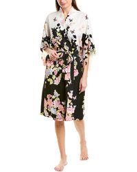 Natori Josie Gardenia Sleepwear Robe - Black
