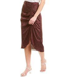 Joie Maira Midi Skirt - Purple