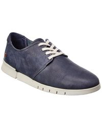 Softinos Softinos By Fly London Cap Leather Trainer - Blue