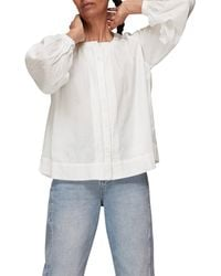 Whistles Jessie Cotton Blouse - White