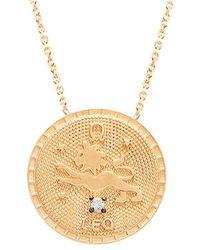Gabi Rielle 22k Over Silver Cz Necklace - Metallic