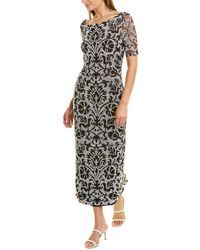JS Collections Reversed Embroidered Gown - White