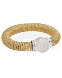 Alor - 18k Yellow Gold Stainless Steel .50 Ct. Tw. Diamond Coil Bracelet - Lyst