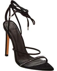 IRO Anaco Suede Sandal - Black