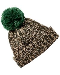 Portolano Chunky Knit Pom Wool-blend Hat - Multicolour