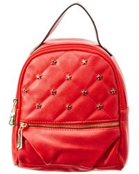 Circus by Sam Edelman Jordyn Convertible Quilted Backpack With Studded Stars - Red