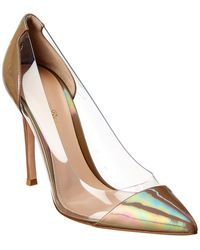 Gianvito Rossi 105 Plexi & Patent Pump - Natural