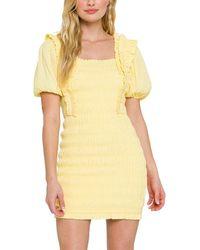 Endless Rose Mini Dress - Yellow