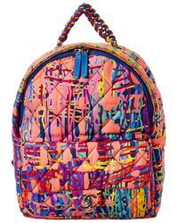 Chanel Multicolour Quilted Fabric Foulard Backpack