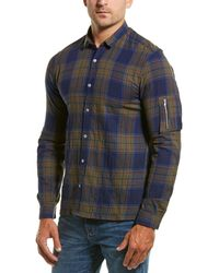 The Kooples Cougar Checks Fitted Woven Shirt - Blue