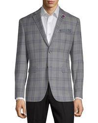 Original Penguin Wool Blend Check Jacket - Grey