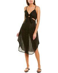 La Blanca Lurex Stripe Dress - Black