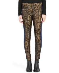 Haider Ackermann Fitted Allover Printed Pant - Black