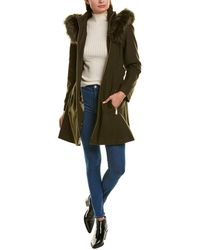 Laundry by Shelli Segal Fit-and-flare Wool-blend Coat - Green
