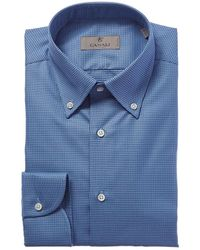 Canali - Slim Fit Dress Shirt - Lyst
