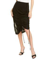 Helmut Lang Scala Midi Skirt - Black