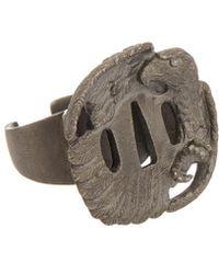 Valentino - Brass Eagle Ring - Lyst