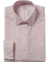Brooks Brothers 1818 Madison Fit Dress Shirt - Pink