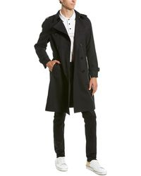 Céline Wool-blend Trench Coat - Black