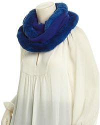 La Fiorentina - Cobalt Cashmere & Wool-blend Infinity Scarf - Lyst