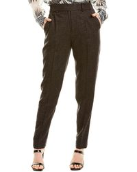 Equipment Warsaw Wool-blend Trouser - Black