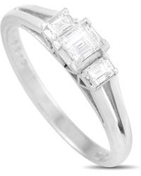 Mikimoto Mikimoto Platinum 0.39 Ct. Tw. Diamond Ring - Metallic