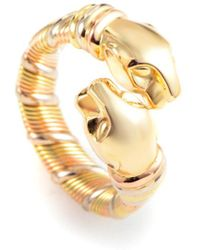 Cartier - Cartier Panthere 18k Tri-color Ring - Lyst