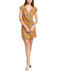 Parker Ramona Silk-blend Mini Dress - Yellow