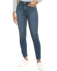 1.STATE Raw Hem Meadow Wash Skinny Leg Jean - Blue