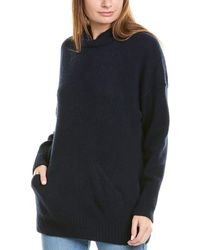 James Perse Luxe Cashmere Hoodie - Blue