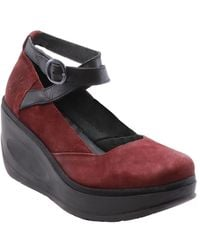 Fly London Jest Leather Wedge Sandal - Red
