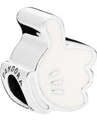 PANDORA Disney Silver Mickey Iconic Glove Charm - Metallic