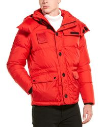 Moncler Down Coat - Red