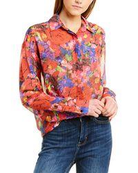 The Kooples Summer Night Silk Shirt - Red
