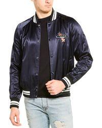 Valentino Satin Track Jacket - Blue