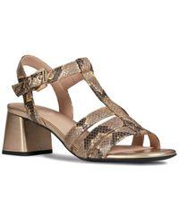Geox Seyla Leather Sandal - Metallic