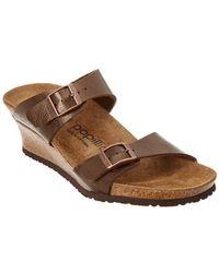 Birkenstock Papillio Dorothy Graceful Leather Sandal - Brown
