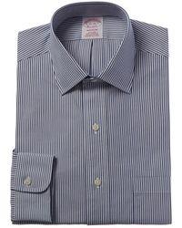 Brooks Brothers 1818 Madison Fit Dress Shirt - Blue