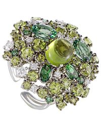 Roberto Coin 18k 0.47 Ct. Tw. Diamond & Gemstone Ring - Green