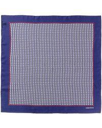 Valentino Optical Logo Silk Scarf - Blue