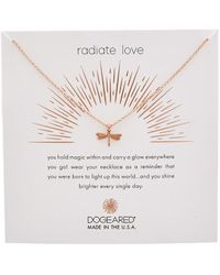 Dogeared Reminder Collection 14k Rose Gold Over Silver Necklace - Metallic