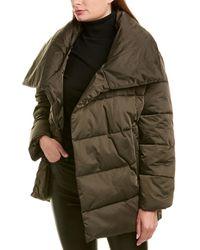 Avec Les Filles Wrap Puffer Jacket - Green