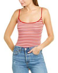 Enza Costa Strappy Bodysuit - Red